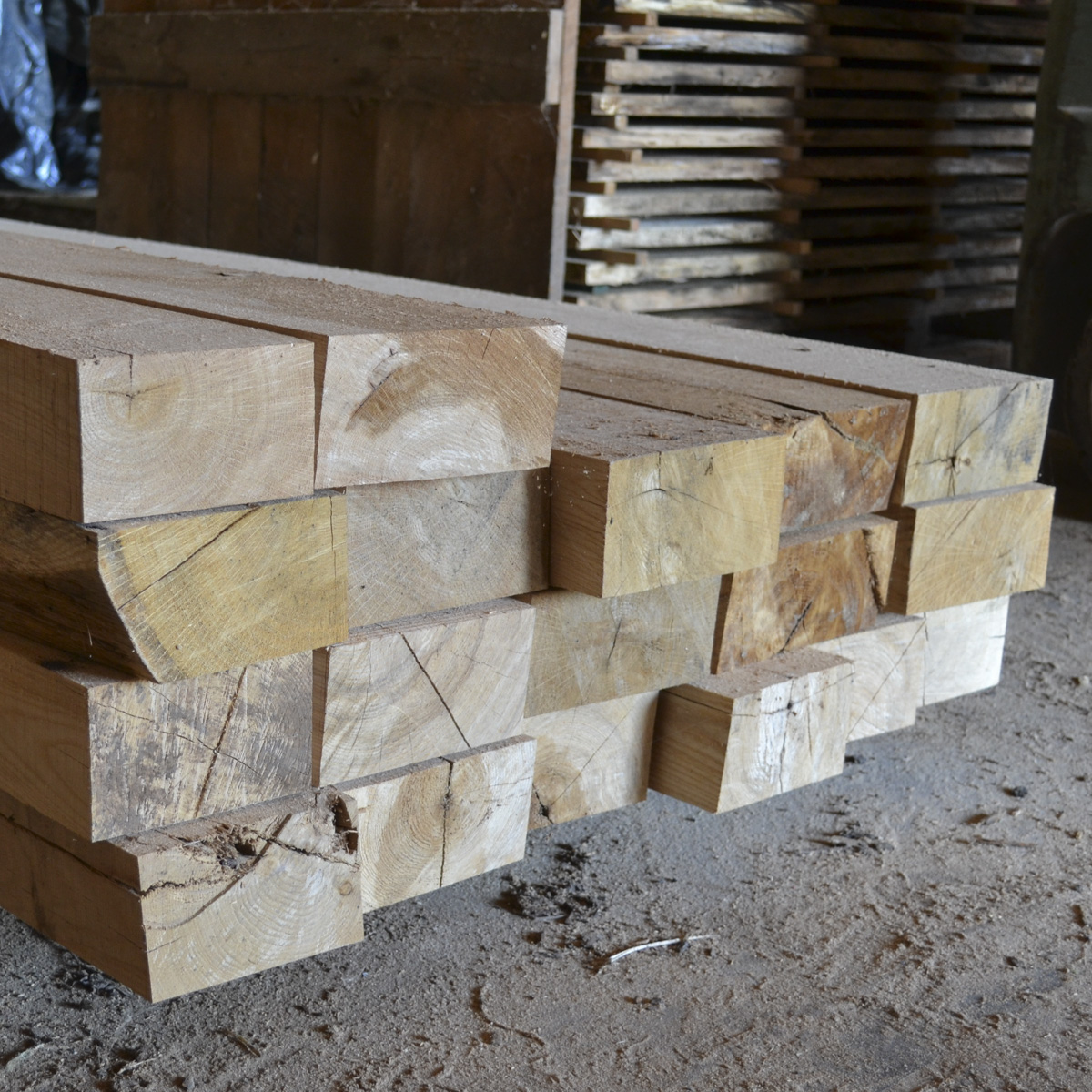Stacked Dimensional Lumber